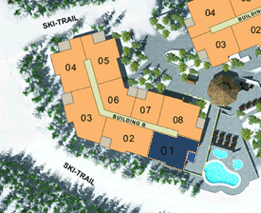 Site Plan - Building B (Plan A) 3 Bdrm