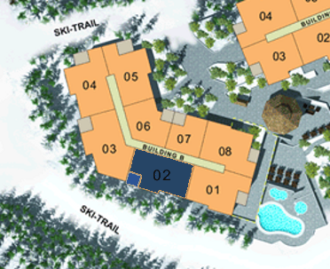 Site Plan - Building B (Plan B1) 3 Bdrm