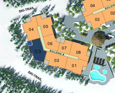 Site Plan - Building B (Plan E) 4 Bdrm