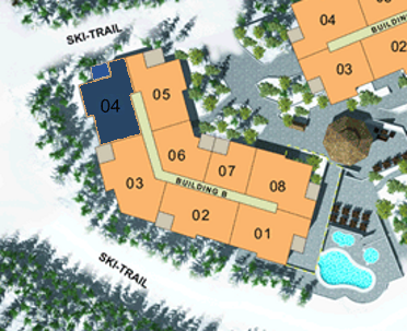 Site Plan - Building B (Plan A5) 3 Bdrm