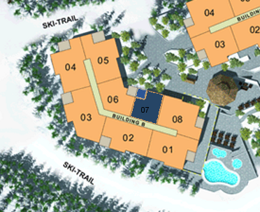 Site Plan - Building B (Plan C3) 1 Bdrm