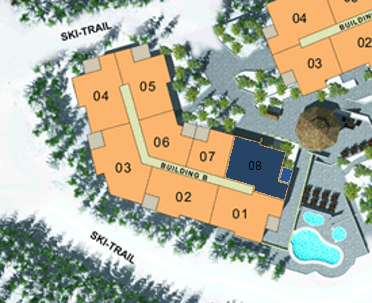Site Plan - Building B (Plan A4) 1 Bdrm